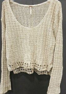 Free people knitted boho style sweater